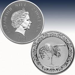 1 x 1 oz Silbermünze 2$ Niue...