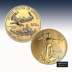 1 x 1/10 Oz Goldmünze 5$ USA...