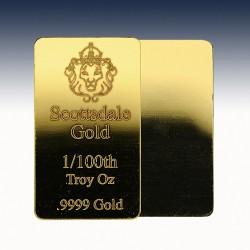 1 x 1/100 Unze Goldbarren Scottsdale...