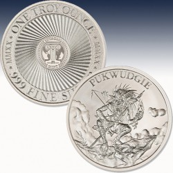 1 x 1 Oz Silverround Intaglio Mint...