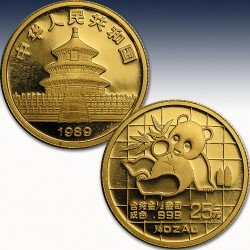 "1 x 1/4 Oz Goldmünze 25 Yuan ""China..."