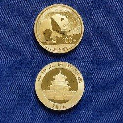 1 x 8 Gramm Gold 100 Yuan China Panda...