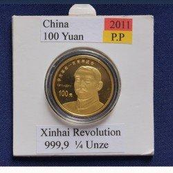 1 x 1/4 Oz Goldmünze 100 Yuan China...