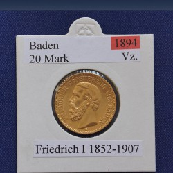 "1 x 20 Mark Goldmünze ""Friedrich I..."