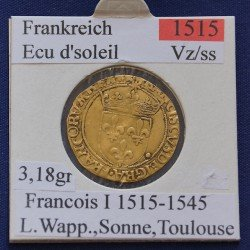 1 x Goldmünze Frankreich Ecu d'soleil...