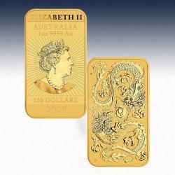 """1 x 1 oz Gold 100$ Australien """"Dragon..."""
