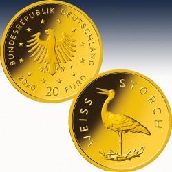 1 x 1/8 oz Gold Heimische Vögel...