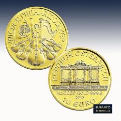 1 x 1/10 Oz Goldmünze 10€ Österreich...