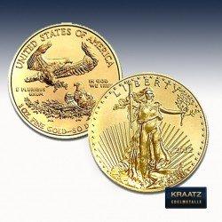 1 x 1/4 Oz Gold American Eagle div.