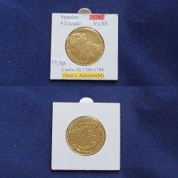 1 x 4 Escudo 1780 Carlos III von...