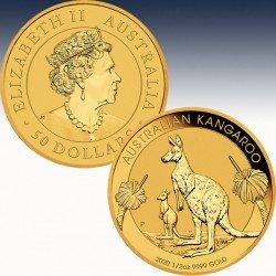 1 x 1/2 Oz Gold 50$ Australien...