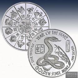 1 x 1 oz Silverround Chinese Zodiac...