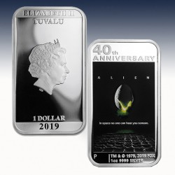 "1 x 1 Oz Silber 1$ Tuvalu ""40th Anniv..."