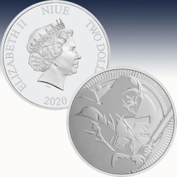 "1 x 1 oz Silbermünze 2$ Niue ""Star..."
