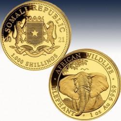 1 x 1 oz Goldmünze 1.000 SH Somalia...