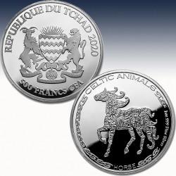 1 x 1 oz Silbermünze 500 France...