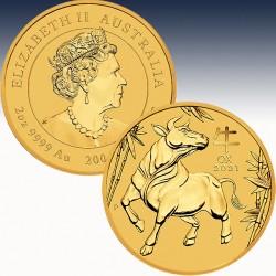 1 x 2 Oz Goldmünze 200$ Australien...