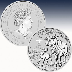 1 x 1/2 oz Silber 0.50$ Australien...