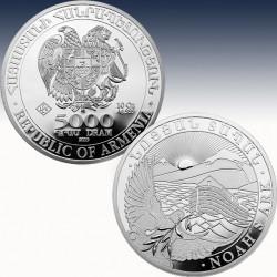 1 x 10 oz Silbermünze 5000 Dram...