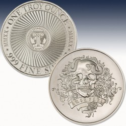 1 x 1 Oz Silverround Inaglio Mint...