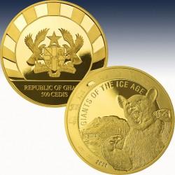 1 x 1 oz Goldmünze 500 Cedis Ghana...