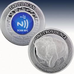 1 x 1 Oz Silverround Mint ID...
