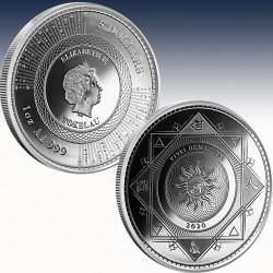 1 x 1 Oz Silbermünze Tokelau 5 $...