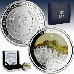 1 x 1 oz Silber 2$ St.Kitts&Nevis...