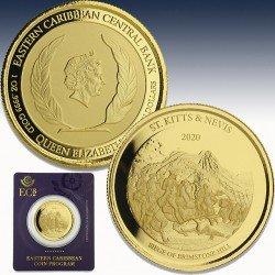 1 x 1 oz Goldmünze 10$ St.Kitts &...