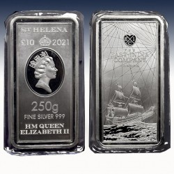 1 x 250 g Silbermünzbarren 10Pfd St....