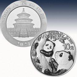 1 x 30 gramm Silber 10 Yuan China...