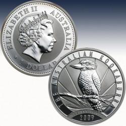 1 x 1 Oz Silberünze 1$ Australien...