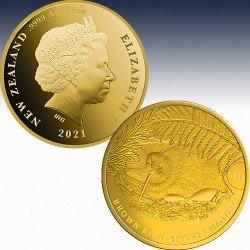 """1 x 1/4oz Gold 10$ Neuseeland """"Kiwi..."""