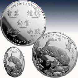 1 x 1 Oz Silver Round Sunshine Mint...