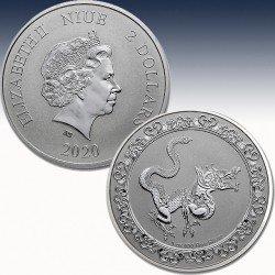1 x 1 oz Silberünze 2$ Niue...