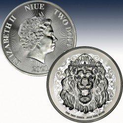 "1 x 1 Unze Silbermünze 2$ Niue ""Lion..."