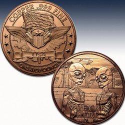 1 x 1 oz Copper Round Osborne Mint...