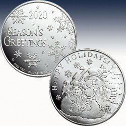 "1 x 1 oz Silverround USA ""Snowman..."