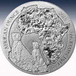 "1 x 1 Oz Silber 50 RWF Ruanda ""Gepard..."