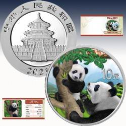 1 x 30g Silber 10 Yuan China Panda...
