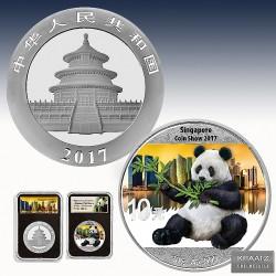 1 x 30g Silbermünze 10 Yuan...