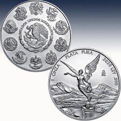 1 x 1 Oz Silber Mexico Libertad 2020...