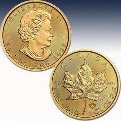 "1 x 1 oz Goldmünze 50$ Canada ""Maple Leaf 2020"" -BU-"