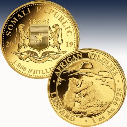 1 x 1 oz Gold 1000 Sh Somalia...