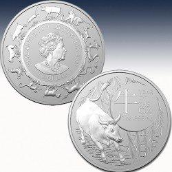 1 x 1 Oz Silber 1$ Australien RAM...