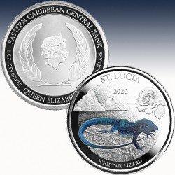 1 x 1 oz Silber 2$ Eastern Caribbean...