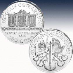 1 x 1 oz Silbermünze 1,50€ Österreich...