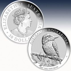 1 x 1 Kg Silbermünze 30$ Australien...