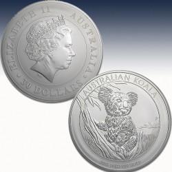 "1 x 1 Kg Silber 30$ Australian ""Koala..."