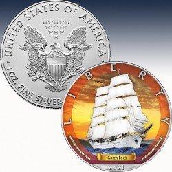 """1 x 1 oz Silbermünze 5$ USA """"Silver..."""
